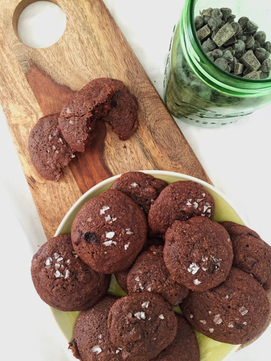 Salted Double Chocolate Chip Cookies | A Healthy Pinch.
